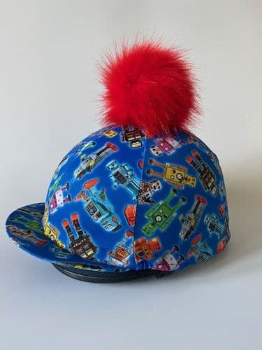 Pompops Children's Robot Hat Cover with Removable Pompom