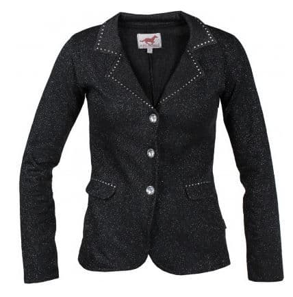 Red Horse Pirouette Riding Jacket in Black