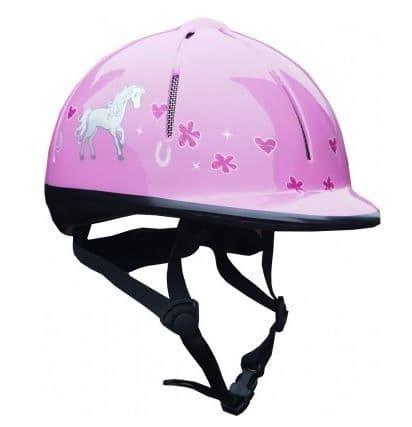Red Horse Safety Helmet in Pink