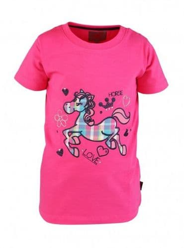 Red Horse T-Shirt in Bubblegum