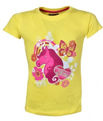 Red Horse T-Shirt in Yellow