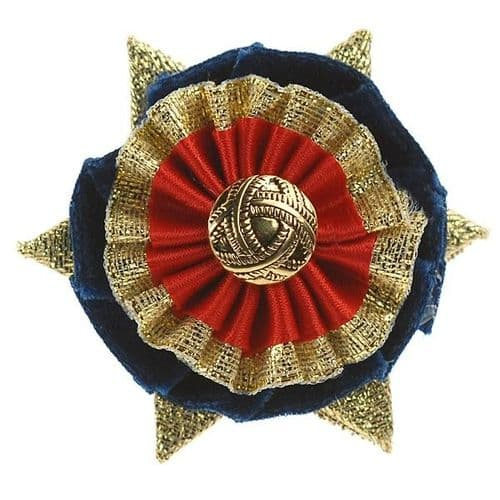 ShowQuest Boston Buttonhole in Navy Blue/Red/Gold