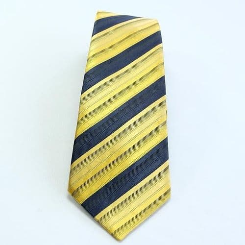 ShowQuest Striped Childs Tie in Navy/Sunshine/Gold