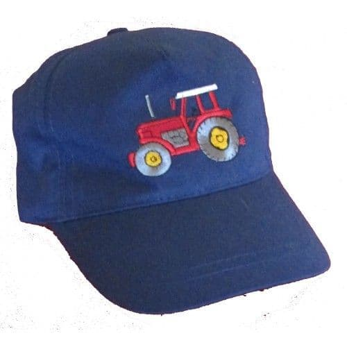 Tractor Baseball Cap in Navy with GREEN Tractor