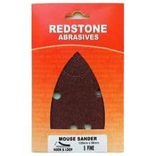 Mouse Hook and Loop Sander Pads - 140mm x 100mm - Pack of 5