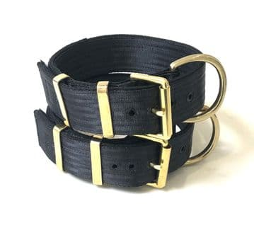 Heavy Duty Working Dog Collar - With Heavy Brass