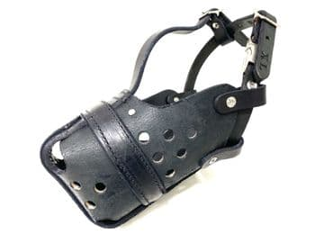 Leather Agitation Police Muzzle - with Quick Release
