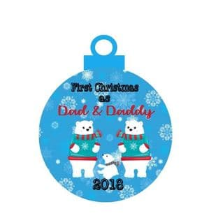 1st Christmas as 2 Dads Acrylic Bauble Christmas Ornament Decoration
