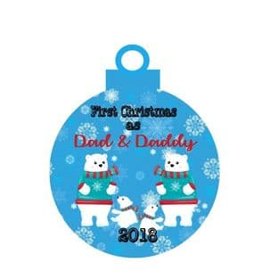 1st Christmas as 2 Dads of Twins Acrylic Bauble Christmas Ornament Decoration