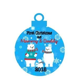 1st Christmas as Mammy & Daddy Acrylic Bauble Christmas Ornament Decoration
