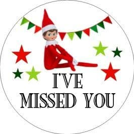 24 I've Missed You Elf Cupcake Toppers