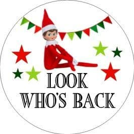 24 Look Who's Back Elf Cupcake Toppers