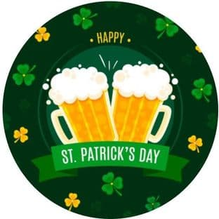 24 St. Patrick's Day Cupcake Toppers Design 1