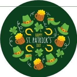 24 St. Patrick's Day Cupcake Toppers Design 3