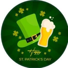 24 St. Patrick's Day Cupcake Toppers Design 4