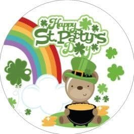 24 St. Patrick's Day Cupcake Toppers Design 7