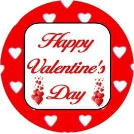 24 Valentine's Day Cupcake Toppers Design 1