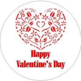 24 Valentine's Day Cupcake Toppers Design 2