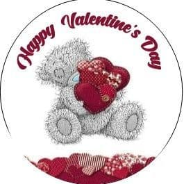 24 Valentine's Day Cupcake Toppers Design 5