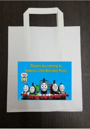 4 x Thomas the Tank Engine Birthday Party Bags with Personalised Sticker