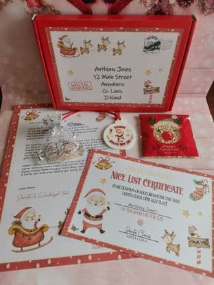5 Piece Gift Box Letter Set From Santa