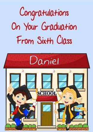 6th Class Graduation Card Design 1