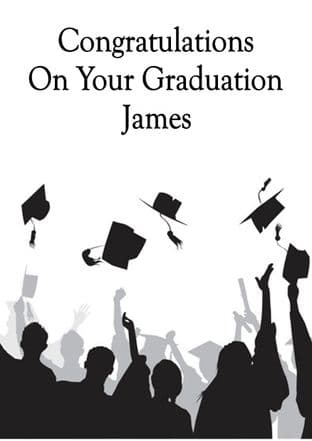 6th Year or College Graduation Card Design 2