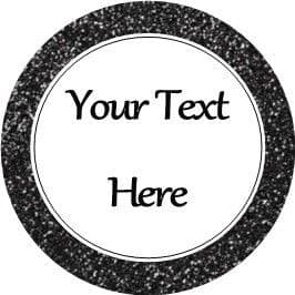 Any Occasion Your Text Stickers Black Sparkle