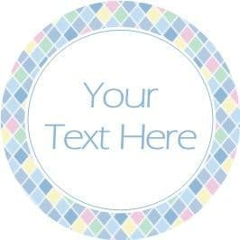 Any Occasion Your Text Stickers Blue Diamond