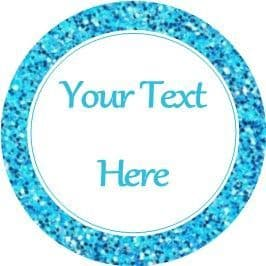 Any Occasion Your Text Stickers Blue Glitter