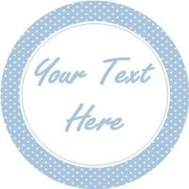 Any Occasion Your Text Stickers Blue Polka Dot