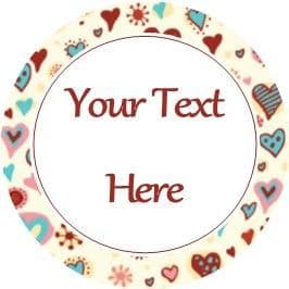 Any Occasion Your Text Stickers Blue Red Hearts