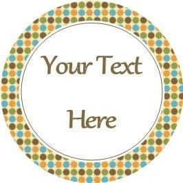 Any Occasion Your Text Stickers Brown Orange Spots