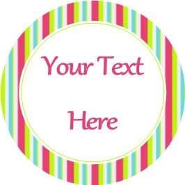 Any Occasion Your Text Stickers Candy Stripe