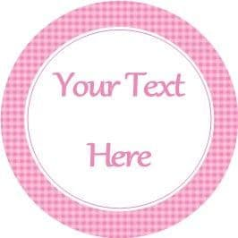 Any Occasion Your Text Stickers Dark Pink Gingham