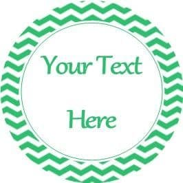 Any Occasion Your Text Stickers Green Chevron