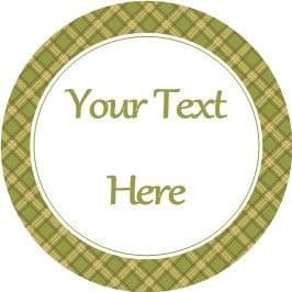 Any Occasion Your Text Stickers Green Tartan