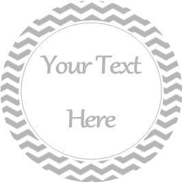 Any Occasion Your Text Stickers Grey Chevron