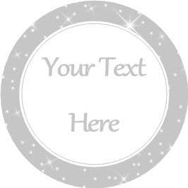 Any Occasion Your Text Stickers Grey Sparkle