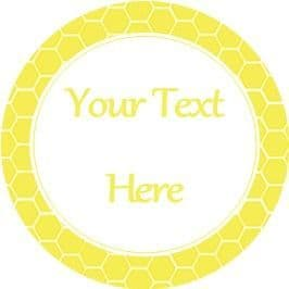 Any Occasion Your Text Stickers Honeycomb