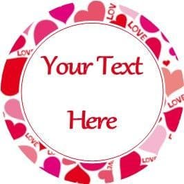 Any Occasion Your Text Stickers Love Hearts