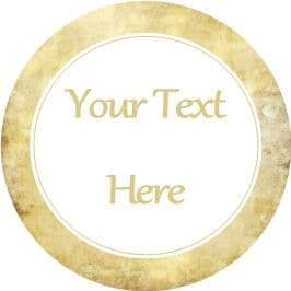 Any Occasion Your Text Stickers Parchment