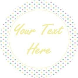 Any Occasion Your Text Stickers Pastel Pokla Dots