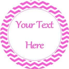 Any Occasion Your Text Stickers Pink Chevron