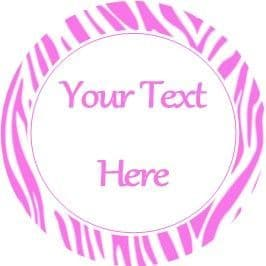 Any Occasion Your Text Stickers Pink Zebra Print