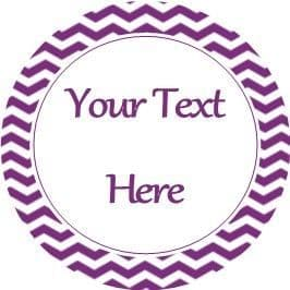 Any Occasion Your Text Stickers Purple Chevron