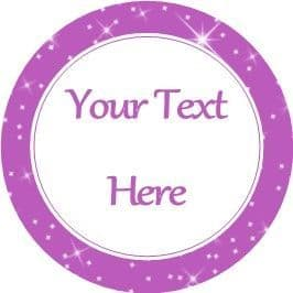 Any Occasion Your Text Stickers Purple Sparkle