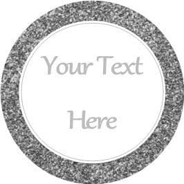 Any Occasion Your Text Stickers Silver Grey Sparkle