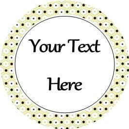 Any Occasion Your Text Stickers Yellow Black Flower