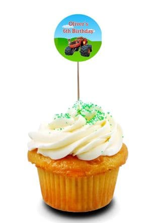 Blaze & the Monster Machines Cupcake Picks/Toppers